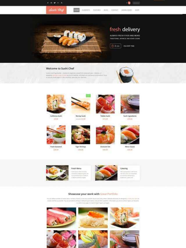 Sushi Home1 3691071959 for food delivery - FOOD DELIVERY WEBSITE DESIGN