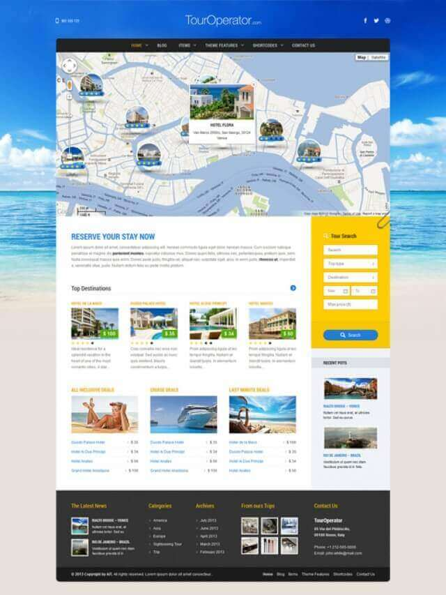 Travel Website Design - touroperator alternative 2125443527 travel operator - Travel Website Design