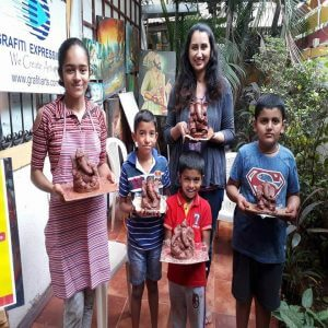 Ecofriendly Ganpati Making Workshop in Grafiti Expression 300x300 - Drawing, Art, Painting Classes / Institute in Aundh – Grafiti Expressions Gallery