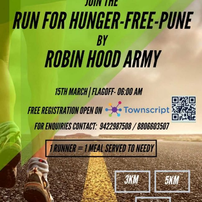 JOIN THE RUN FOR HUNGER-FREE-PUNE BY ROBIN HOOD ARMY