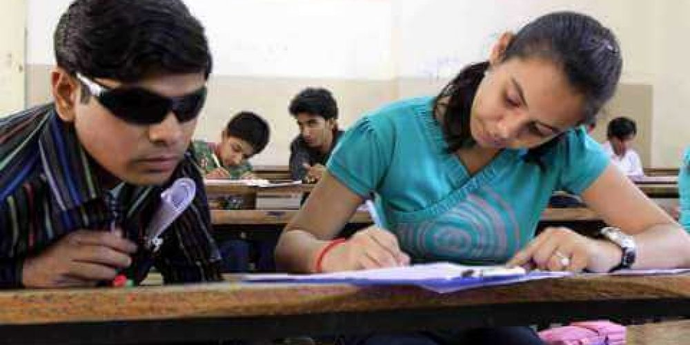 Require 45 writers for visually challenged students' exams